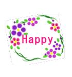 伝えたい想いにかわいい花を添えて。英語版(個別スタンプ:12)