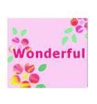 伝えたい想いにかわいい花を添えて。英語版(個別スタンプ:13)