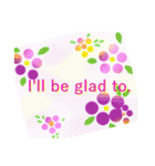 伝えたい想いにかわいい花を添えて。英語版(個別スタンプ:16)