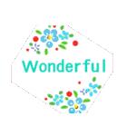 伝えたい想いにかわいい花を添えて。英語版(個別スタンプ:26)