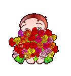 でこちゃんの花束;母の日も梅雨の晴れ間も(個別スタンプ:16)