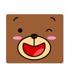 顔だけクマさん(個別スタンプ:01)