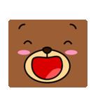 顔だけクマさん(個別スタンプ:02)