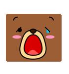 顔だけクマさん(個別スタンプ:03)