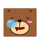 顔だけクマさん(個別スタンプ:04)