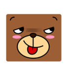 顔だけクマさん(個別スタンプ:06)