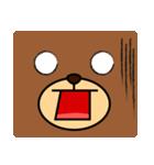 顔だけクマさん(個別スタンプ:08)