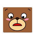 顔だけクマさん(個別スタンプ:09)