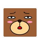 顔だけクマさん(個別スタンプ:11)