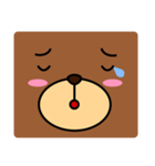 顔だけクマさん(個別スタンプ:16)