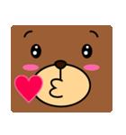 顔だけクマさん(個別スタンプ:19)