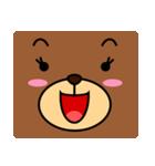 顔だけクマさん(個別スタンプ:21)