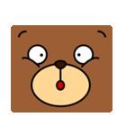 顔だけクマさん(個別スタンプ:24)