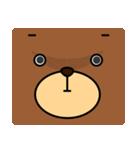 顔だけクマさん(個別スタンプ:26)