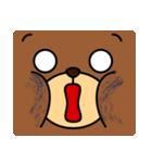 顔だけクマさん(個別スタンプ:32)