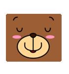 顔だけクマさん(個別スタンプ:33)