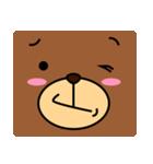 顔だけクマさん(個別スタンプ:34)