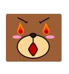 顔だけクマさん(個別スタンプ:39)