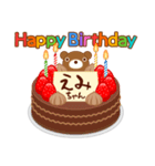 誕生日ケーキに名前を添えて(個別スタンプ:09)