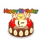 誕生日ケーキに名前を添えて(個別スタンプ:15)