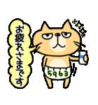 【敬語DAYO!!】ぶさかわにゃんこ&ぱんだ①(個別スタンプ:17)