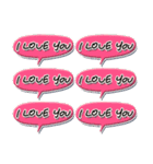 Love each other stickers(個別スタンプ:26)
