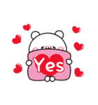 【めちゃ動く】アモーレ♡くまくま(個別スタンプ:09)