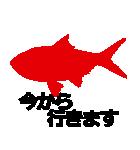 KiKiの魚シルエットスタンプ(個別スタンプ:34)
