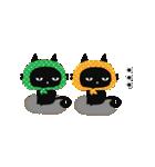 ▶動く!黒猫のほのぼのスタンプ(個別スタンプ:22)