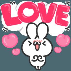 LOVE!を伝えるスタンプ