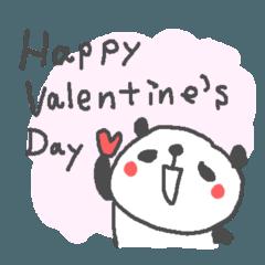 バレンタインデー英語ぱんだValentine'sDay
