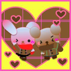 うさぎとくまの日々(バレンタイン)