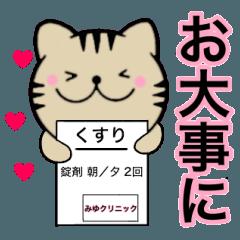 【みゆ】が使う主婦が作ったデカ文字ネコ