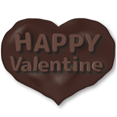 チョコ&ハート♪甘~いスタンプ♪