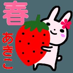 名前スタンプ【あきこ】が使うスタンプ 春