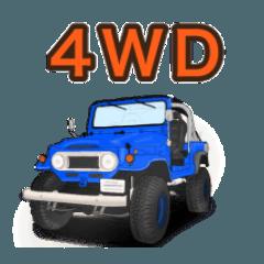 オフロード、4WD、クロカン車スタンプ
