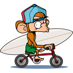 The Life of Monkey Surfer Nate