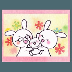 [LINEスタンプ] 子育てウサギ(ママ編)の画像(メイン)