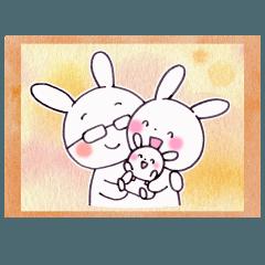 イクメンウサギ(子育てウサギパパ編)