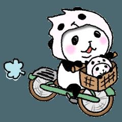 パンダinぱんだ(うご2)