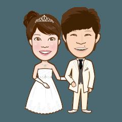 ほっこり新婚夫婦