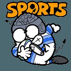 可愛いばい菌くん3スポーツシリーズ