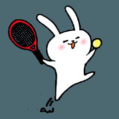 テニス大好き白うさぎ