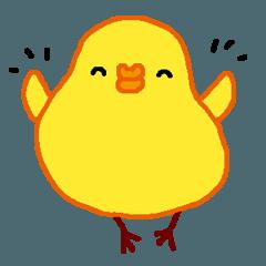 可愛い黄色のひよこ