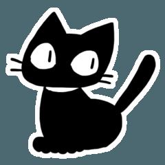 黒猫のスタンプ(English)