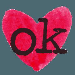 シンプルに伝えるための文字と表情ほぼ英語