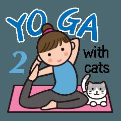 ヨガレッスン with cats 2