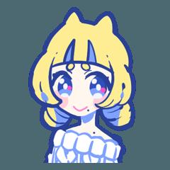黄猫ちゃんと黒狐ちゃん