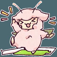 """""""羊セミ""""スタンプ、番外編!【1】"""