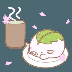 ぶたぽん 春(卒業、入学、お花見、花粉症)